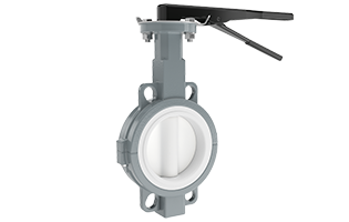 Beaver 2-Piece Wafer/Lugged PTFE-Lined Butterfly Valve
