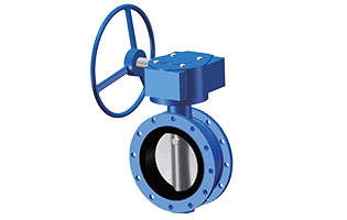 Beaver Resilient Seated Double-Flanged Butterfly Valve