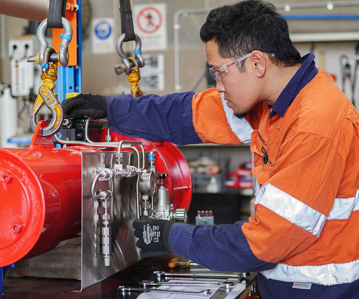 Installing an electric control system on an actuated instrumentation assembly