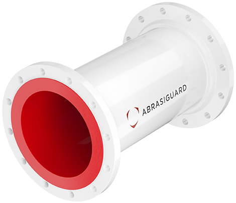 Lined pipes Abrasiguard straight spool